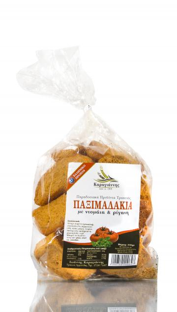 Παξιμάδια λαδιού - ρίγανης - ντομάτας Τραχειάς