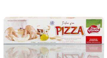 Ζύμη πίτσας με ελαιόλαδο και προζύμι Ψαχνών