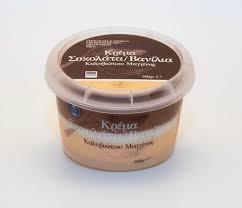 Κρέμα βανίλια - σοκολάτα Μαγγίνας