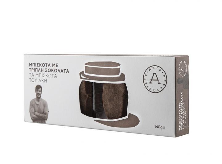 Μπισκότα με τριπλή σοκολάτα-Τα μπισκότα του Άκη