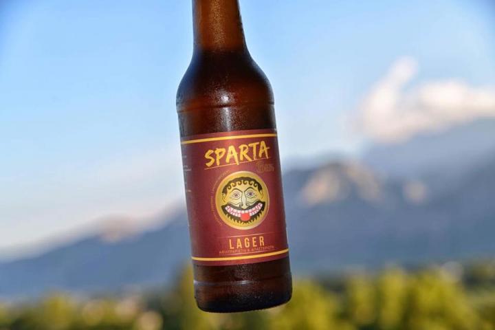 Μπύρα SPARTA LAGER Απαστερίωτη, αφιλτράριστη